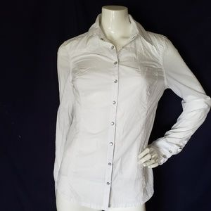 GUESS JEANS long sleeve white shirt